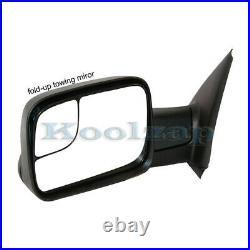 02-08 Ram 1500/03-09 2500 3500 Truck Power Heated Towing Mirror Black Left Side