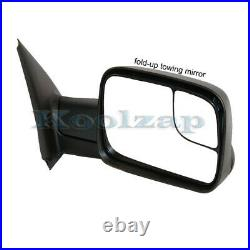 02-08 Ram 1500/03-09 2500 3500 Truck Power Heated Towing Mirror Black Right Side