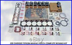 020 Oversize Engine Overhaul Performance Rebuild TEFLON MARINE for Cummins 12V