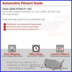 04-08 Ford F150 Neon Tube Bar FULL LED Tail Lamp BLACK License Plate Light CLEAR