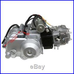 3+1 125cc Semi Auto Engine motor Elec Start ATV quad bike+ Full Wiring