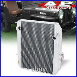 3-Row Aluminum Performance Engine Radiator For 1941-1952 Jeepy Willys Ford GPW