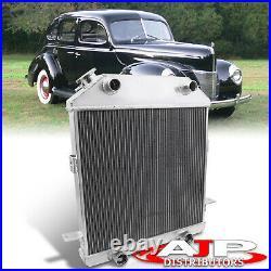 3-Row Full Aluminum Radiator For 1939-1941 Ford Standard Mercury Flat Head