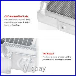 3 RowithCore Aluminum Performance Engine Cooling Radiator For 1972-1986 Jeep Cj
