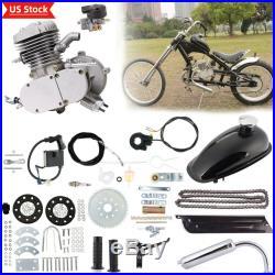 80cc Bicycle Motor Kit Bike Motorized 2 Stroke Petrol Gas Engine Full Set US