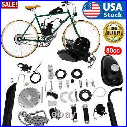 80cc Bike Bicycle Motorized 2 Stroke Petrol Gas Motor Engine Full Set Kit US