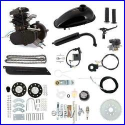 80cc Bike Bicycle Motorized 2 Stroke Petrol Gas Motor Engine Kit Full Set Black