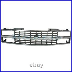 88-93 Chevy C/K Pickup Truck withDual Headlight Grill Grille Assembly Chrome Black