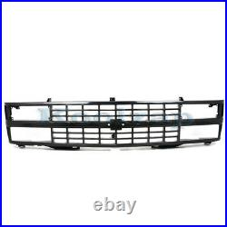 88-93 Chevy C/K Pickup Truck withSealed Beam Headlight Grill Grille Assembly Black