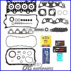 96-00 1.6l Honda CIVIC Sohc Re-ring Kit Full Gaskets Bearings Rings D16y5 Y7 Y8