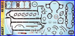 BEST Full Engine Gasket Set/Kit for Ford 136 17-stud Flathead V8 60hp 1937-40