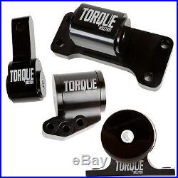 Billet Aluminum 4 Piece Full Engine Mount Kit Fits Evo 8 9 by Torque Solution