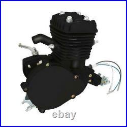 Black Full Set 80cc Bike Bicycle Motorized 2 Stroke Petrol Gas Motor Engine Kit