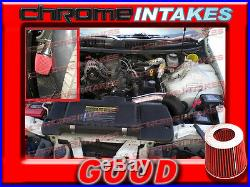 Black Red 98-02 Chevy Camaro/pontiac Firebird 3.8l V6 Full Cold Air Intake Kit