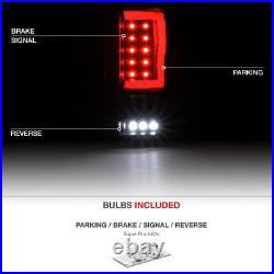 Black Smoked FULL LED 2004-2008 Ford F150 Lobo Tail Lamp Neon Tube Light U-Bar