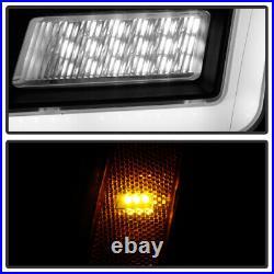 C-TUBE Neon Bar Black Full LED Headlights Pair For 2007-14 Cadillac Escalade