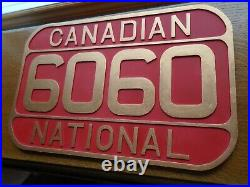 Canadian National CNR 6060 FULL SIZE Locomotive Number Plate Replica