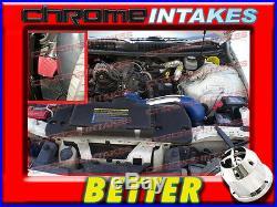 Cf Blue Red 98-02 Chevy Camaro/pontiac Firebird 3.8l V6 Full Cold Air Intake Kit
