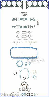 Chevy 305/5.0 witho TPI Fel Pro Full Engine Gasket Set/Kit Head+Intake 1987-95