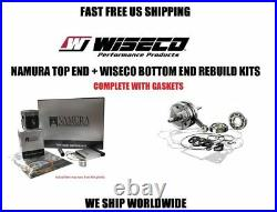 Complete full engine rebuild kit piston crankshaft gaskets 00-02 Honda CR125R