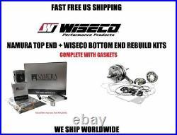 Complete full engine rebuild kit piston crankshaft gaskets 92-99 Honda CR125R