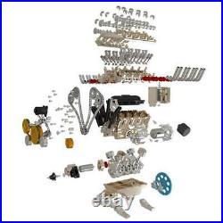 DIY 13 Full Metal Model 500+ Parts Assembly Engine V8 Motor Kit Toy Gift