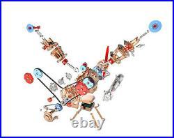 DIY Full Metal Assembly Engine Motor Kit V2 2-Cylinder Model Toy Collection Gift