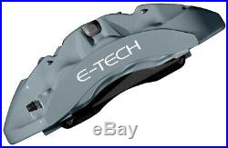 E-Tech Engine Bay Valve & Wheel Hub Car Brake Heat Caliper Paint Full Kit GREY