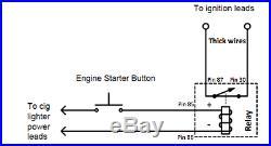 Engine Car Start Starter Stop Power Push Button Switch Full DIY kit! BC