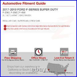 FULL LED 17-19 Ford F250 F350 F450 SD Neon Tube Black Backup Tail Lights SET