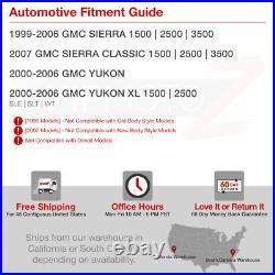 FULL-LED BUMPER LIGHTS Black 1999-2006 GMC Sierra 1500 Yukon XL 4PC Headlights