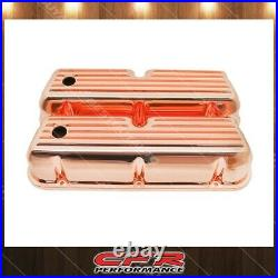 Fits 1962-85 Ford SB Small Block Tall Aluminum Valve Covers Full Finned Copper
