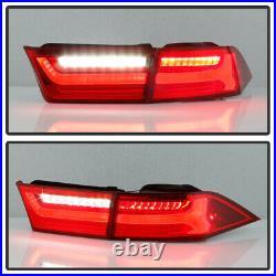 For 04-08 Acura TSX FULL LED Red Lens Clear OLED Neon Tube Tail Light Brake Lamp