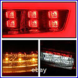 For 08-14 Subaru WRX STI Sedan FULL LED Red Neon Tube Tail Lights Lamp Housing