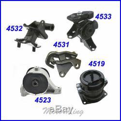For 2006-2008 Honda Pilot 3.5L 4WD Engine Motor & Trans Mount Full Set 5PCS M325
