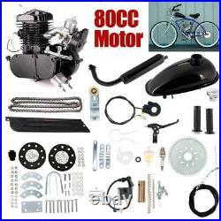 For 80cc Bicycle Motor Kit Bike Motorized 2 Stroke Petrol Gas Engine Full Set