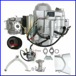 Full 125CC SEMI AUTO ENGINE MOTOR 4 SPEED with REVERSE For Go Kart ATV QUAD BUGGY