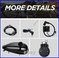Full 80cc Bike Bicycle Motor Kit Motorized 2 Stroke Petrol Gas Engine Set Black