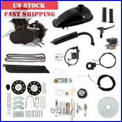 Full 80cc Bike Bicycle Motorized 2 Stroke Petrol Gas Motor Engine Kit Set Black