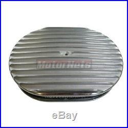 Full Finned Chevy SBC Short Polished Aluminum 12 Engine Dress Up Kit 283 350 V8