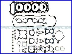 Full Gasket Set+Head Bolts+Silicone FITS NISSAN KA24E 2.4L SOHC 240SX D21 PICKUP