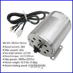 Full Kit 48v 1800w Electric Brushless Motor + Go Kart Rear Axle Assembly +Wheels