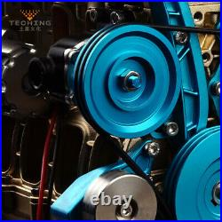 Full Metal Assembled Four-cylinder Inline Gasoline Engine Model Building Kit