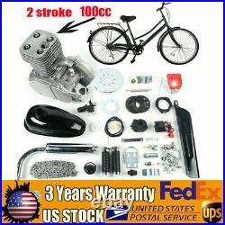 Full Set 100cc Bike Bicycle Motorized 2-Stroke Petrol Gas Motor Engine Kit Set