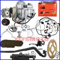 Full Set 125cc 4-stroke Engine Motor Auto Electric Start For ATV Go Kart Quad