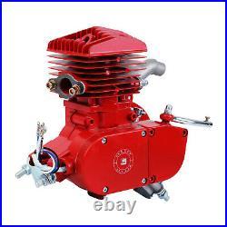 Full Set 80cc Bike 2 Stroke Gas Engine Motor Kit Motorized Bicycle MotorCycle