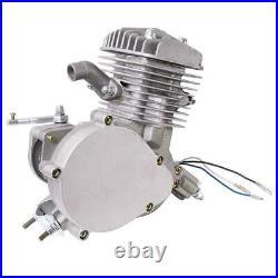 Full Set 80cc Bike Bicycle Motor Kit Motorized 2 Stroke Petrol Gas Engine Silver