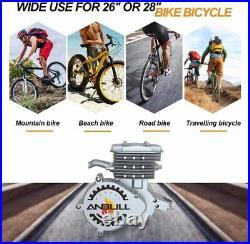 Full Set 80cc Bike Bicycle Motorized 2 Stroke Petrol Gas Motor Engine Kit Silver