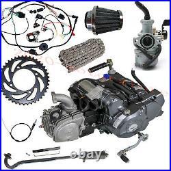 Full set Lifan 125CC 4 Stroke Motor Engine Pit Dirt Bike ATV Quad For CRF50 Z50