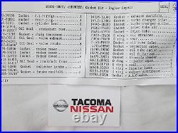 Genuine Nissan Silvia S13 SR20DET Full Engine Gasket Kit Set NEW OEM 10101-50F27